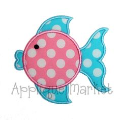 Machine Embroidery Design Applique Blowfish INSTANT by tmmdesigns, $4.00