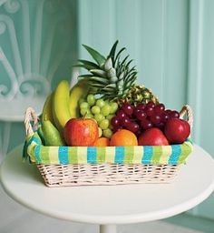 Variety of fruits. This should equal all up to 8 servings of fruit. Enough for males everyday.