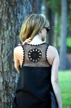 Espalda de crochet  Fashion Low Cost. i can totally make something like this