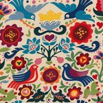 Alexander Henry Folklorico LaPaloma Natural [AH-DE7593-BR] - $10.45 : Pink Chalk Fabrics is your online source for modern quilting cottons and sewing patterns., Cloth, Pattern + Tool for Modern Sewists