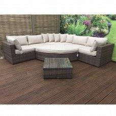 Signature Weave Garden Furniture Jessica Large Brown Corner Sofa Set Goruntuler Ile