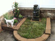 Backyard Dog Area, Dog Friendly Backyard, Turf Installation, Dog Toilet, Dog Yard, Dog Potty, Dog Runs, Backyard Projects, Backyard Ideas