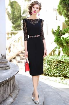 Nice Dresses, Long Dresses, Formal Dresses, 98, Dress Suits, Pencil Dress, Formal Wear, Sheath Dress, Ideias Fashion