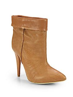Loeffler Randall - Cuffed Leather Ankle Boots