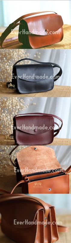 Handmade Leather phone purse organ for women crossbody bag leather