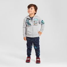 Toddler Boys' Astronaut Hooded Sweatshirt and Space Jogger Outfit - Cat &…