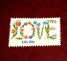 20c Floral LOVE Stamp Set of 50 Unused Vintage Postage stamps sold by TreasureFox, $36.50