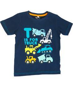 Name It schattig blauwe t-shirt met leuke vrachtwagens . name-it.nl.emilea.be