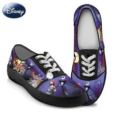 AwesomeNice Tim Burton's The Nightmare Before Christmas Canvas Art Women's Shoes by The Bradford Exchange