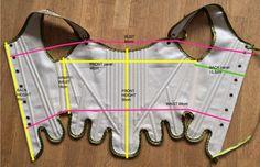NEW 18th Century corset/stays. Linen. Hand by UllakonAarteet