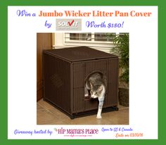 Jumbo Wicker Litter Pan Cover by Solvit Products (Review and Giveaway)