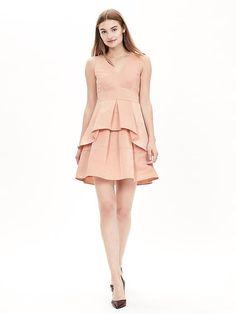 Taffeta Fit-and-Flare Dress  Follow my posts: http://www.hsefashionandlifestyleblog.com/