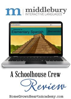 Middlebury Interactive Languages -  Elementary Spanish 1: Grades 3-5  - Review #homeschool #hsreview