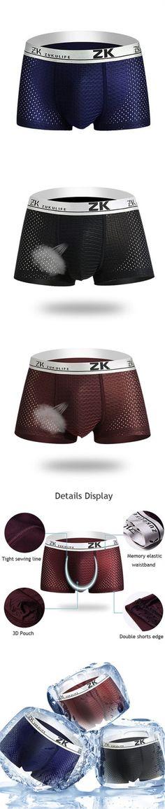 US$6.99  Mens Breathable Mesh U Underwear |underwear men | underwear storage| underwear|underwear male|