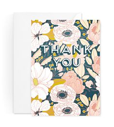 Evening Floral Thank You Card