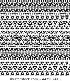 Image vectorielle de stock de Navajo Aztec Border Vector Illustration Page 259728050 Navajo, Black And White Colour, White Colors, Illustrations, African Design, Boho, Cool Patterns, New Pictures, Royalty Free Photos