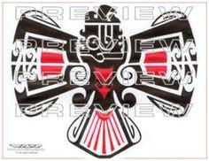 amazing tribal eagle tattoo design