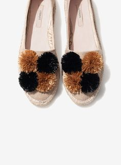 Pompom espadrilles - View all - Footwear - Uterqüe United Kingdom