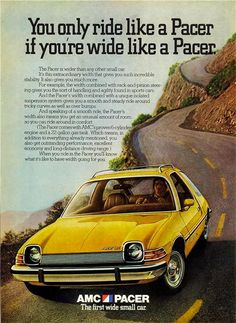 AMC Pacer old car ad
