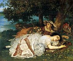 FANCIULLE IN RIVA ALLA SENNA Coubert- 1857- olio su tela- Museo del Petit Palais, Parigi