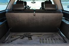 Secret Gun Compartment in Car aka The Eric Holder Family SUV on the way to Mexico.