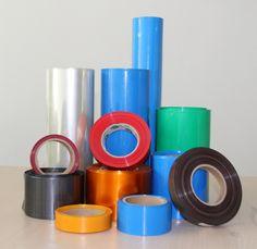 flattening width 38mm transparent black blue white many color pvc heat shrink tube cartridge battery crust 1pcs