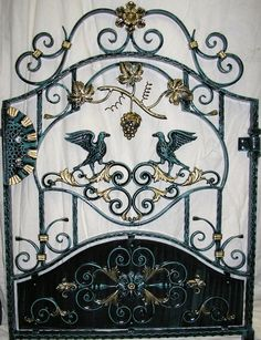 Lovely Wrought Iron Birds Leaves And Vine