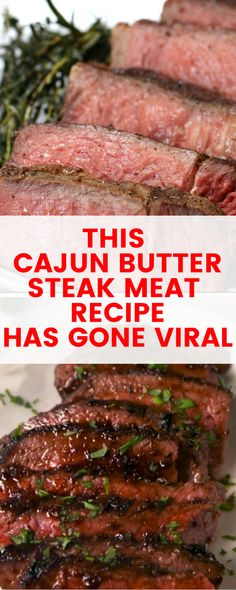 This steak recipe will have your mouth watering for more. From the chefs at Delish, comes this hot yummy Cajun Butter steak the whole family will enjoy. #food #recipe #meals #yummy #cajun #steak #recipe #recipeoftheday #tecmatters #easyrecipe #easydinner