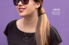 I Spy DIY: DIY JEWELRY | Wire Heart Necklace