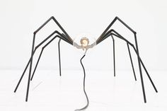 Brutalist Spider Floor or Table Lamp, circa 1970s | From a unique collection of antique and modern table lamps at https://www.1stdibs.com/furniture/lighting/table-lamps/