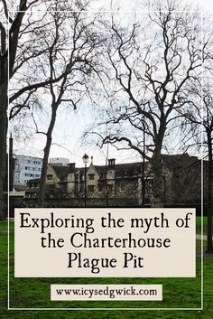 The Charterhouse area of London has played host to a monastery, a School, and university buildings...as well as the Charterhouse Plague Pit.