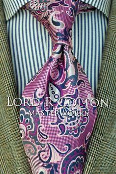 Lord R Colton Masterworks Tie - Pisaq Purple & Silver Silk Necktie - $195 New #LordRColton #NeckTie