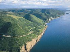 The Cabot Trail winds through the scenic highlands of Cape Breton Island, Nova Scotia's masterpiece Cabot Trail, Alberta Canada, Nova Scotia, Ottawa, Quebec, Montreal, Cap Breton, Ontario, Vancouver