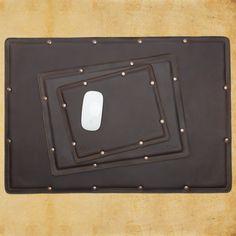 Desk Pad Set - Dark Coffee Brown