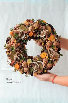 Wreath in autumn