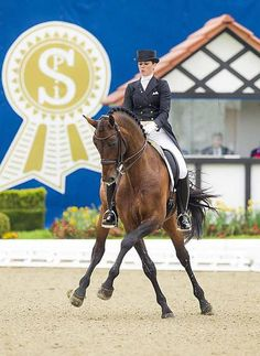 Now THAT'S a half pass! Australian Lyndal Oatley aboard Sandro Boy (Oldenburg) #horse #dressage