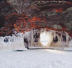 Lake Superior Ice Caves, Apostle Islands National Lakeshore #Wisconsin