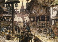 hand-painted museum quality oil painting reproduction on canvas. Russian Painting, Russian Art, Russian Style, Pictures Of Russia, Ivan Bilibin, Unusual Buildings, Fantasy Warrior, Fantasy Map, Oil Painting Reproductions