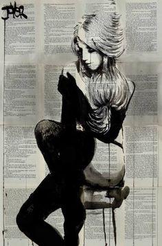 "Saatchi Art Artist Loui Jover; Drawing, ""petite boudoir"" #art"