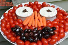 Getting My Kids to eat their Veggies Thanks to my Edible Elmo Vegetable Platter!