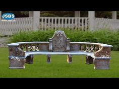 Outdoor Large Antique Romanesque Semi Circle Stone Bench Garden Landscape Design - YouTube Garden Landscape Design, Garden Landscaping, Design Youtube, Stone Bench, Romanesque, Marble, Antiques, Nature, Outdoor