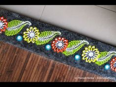 Easy border rangoli | Creative rangoli designs by Poonam Borkar - YouTube