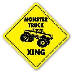 monstyer truck xing sign