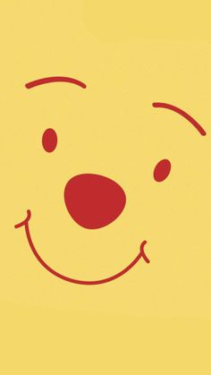 Pooh Face Wallpaper for iPhone 6