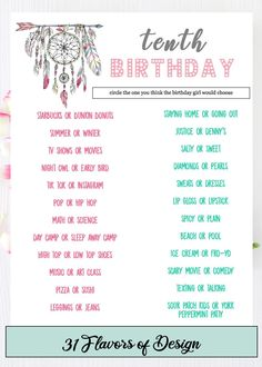 Who Knows the Birthday Girl Best Set of 30 Birthday Party Game Kraft Te...