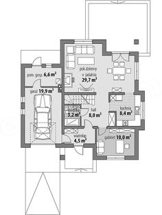 Projekt domu Milena 122,9 m2 - koszt budowy 208 tys. zł - EXTRADOM Traditional House, House Plans, Floor Plans, House Design, How To Plan, Cottages, October, Houses, House Template