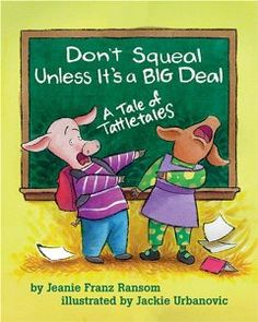 "Great book to use to teach about tattling! I even created a ""Problem Porker"" in my classroom.  He's a stuffed pig that sits atop our classroom mailbox.  Each week, students write down problems they have and ""mail"" them to the class.  We then discuss how to solve them."