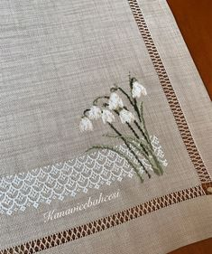 Snowdrops-so dainty - Cross Stitch Sampler Patterns, Needlepoint Stitches, Cross Stitch Samplers, Cross Stitching, Needlework, Embroidery Applique, Cross Stitch Embroidery, Crochet Doily Diagram, Cross Stitch Boards