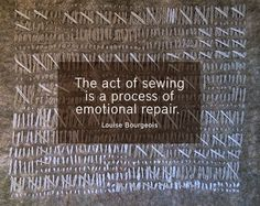 Truer than true can be . . . (photo credit: madameartsy). To be honest, if I'm sewing, it can also create emotional distress.