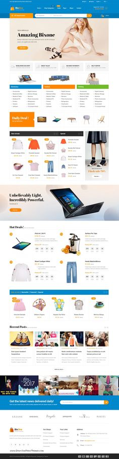 Pts BixOne is clean and modern design 6in1 responsive #prestashop theme for stunning marketplace #eCommerce shop #website to live preview & download click on Visit 👆